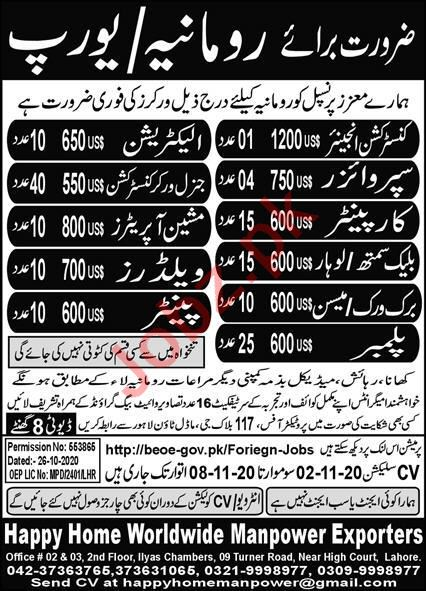 Construction Engineer & Machine Operator Jobs 2020