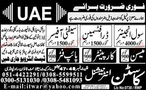 Civil Engineering Jobs in Pakistan 2014 Civil Engineers Draftsman Job