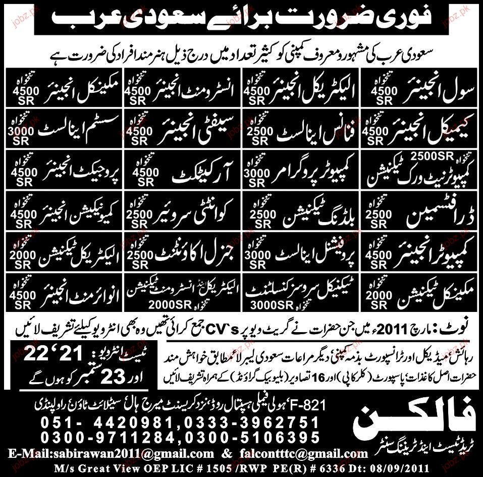 Civil Engineer, Electrical Engineer  Job Opportunity