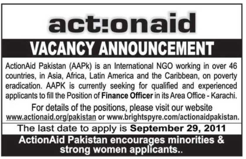 Finance Officer Job Opportunity