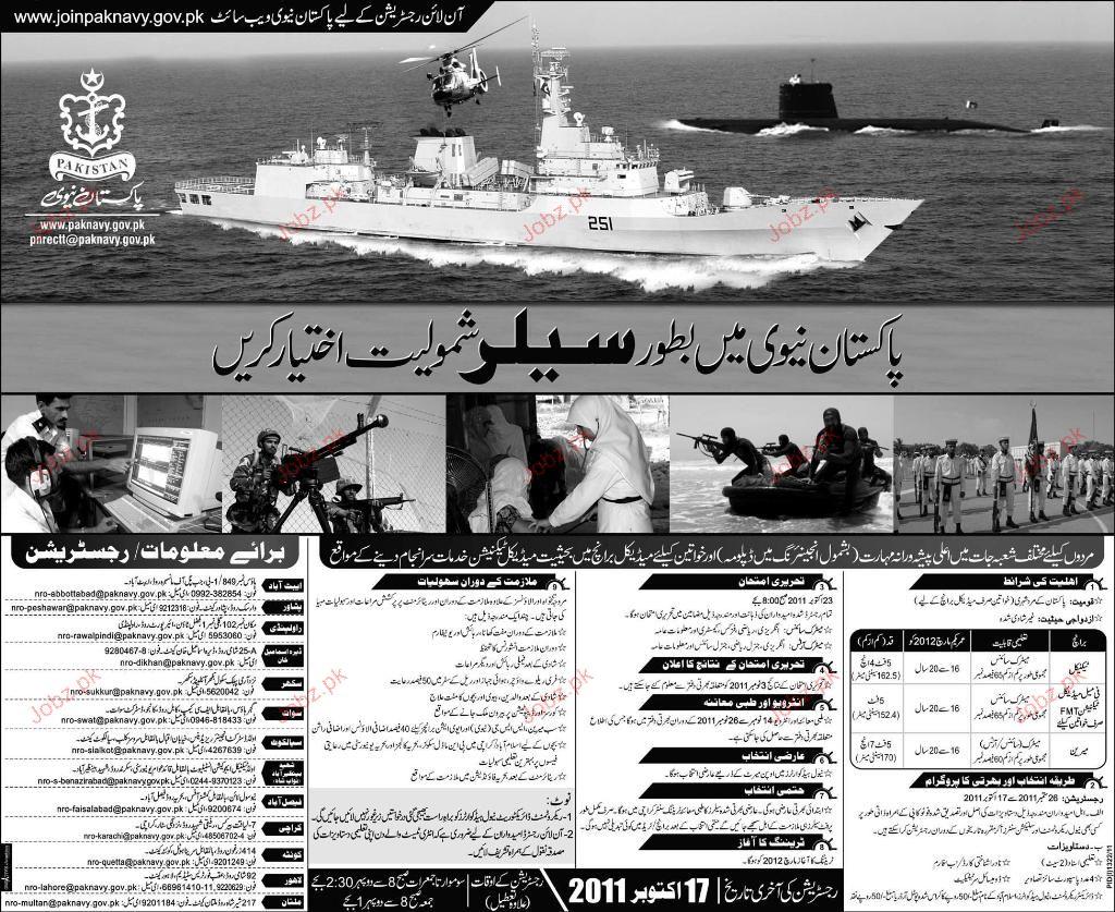 sailors recruitment in pakistan navy 2019 job