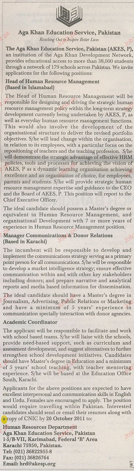 Head of Human Resource Management Job Opportunity