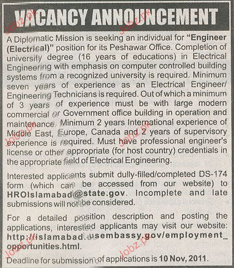 Engineer Electrical Job Opportunity