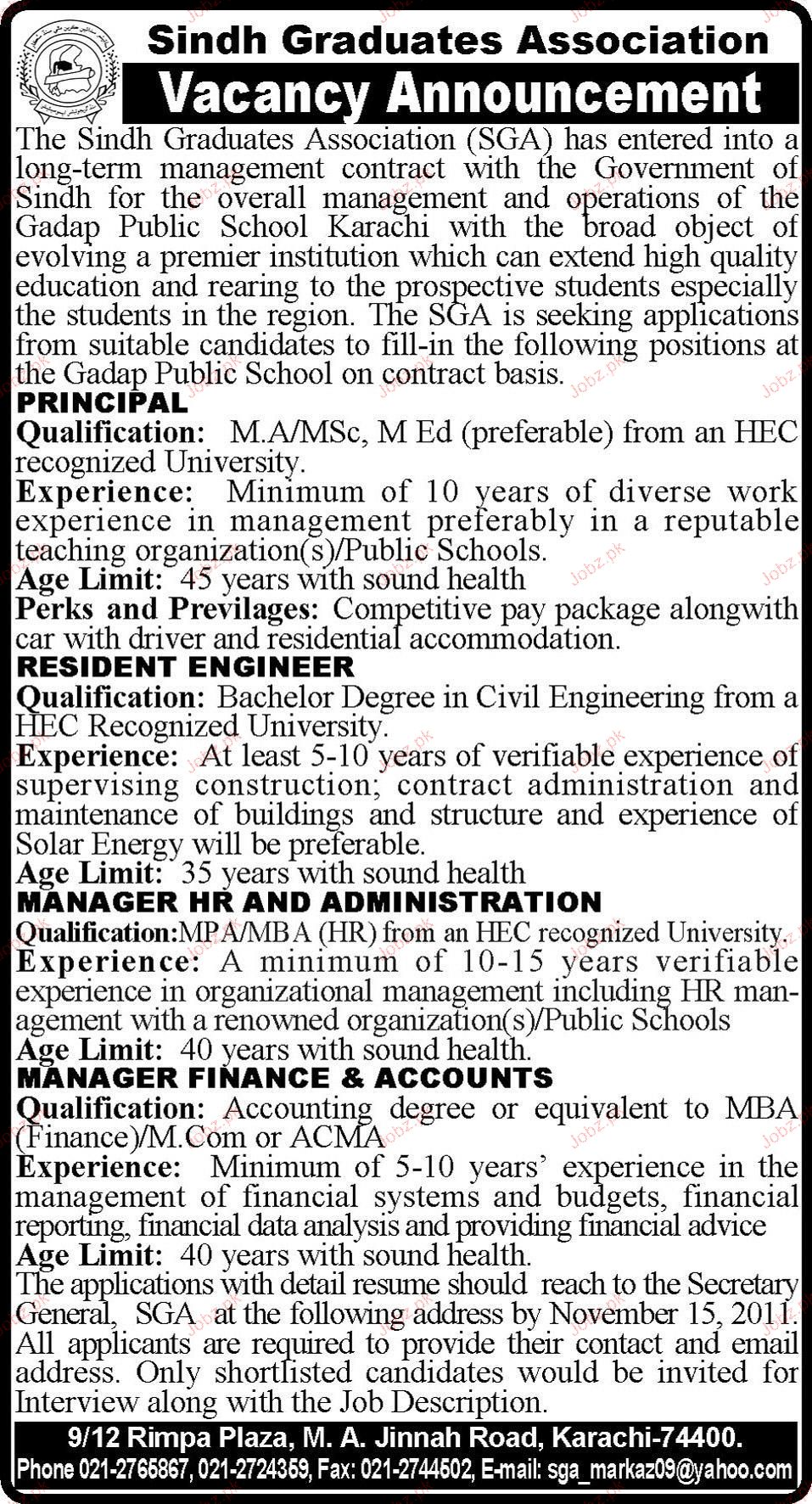 Principal, Resident Engineers Job Opportunity