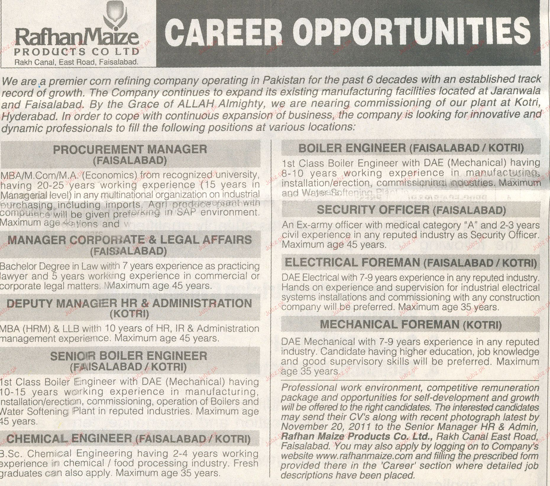 Procurement Manager, Boiler Engineers Job Opportunity