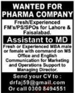 Assistant to MD Job Opportunity