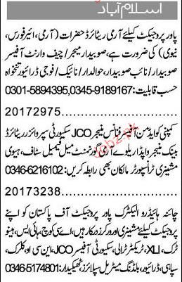 Admin Officer, Finance Manager, Account Supervisor Required