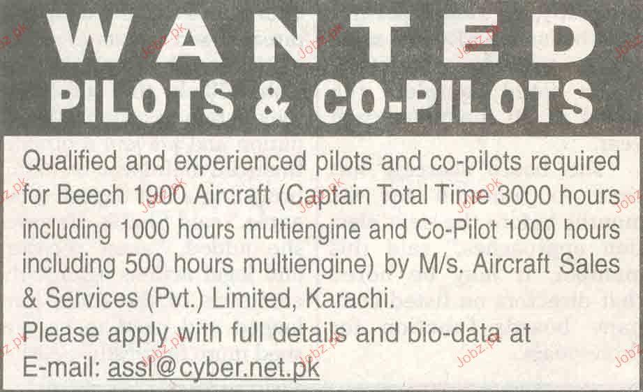 Pilots & Co Pilots Job Opportunity