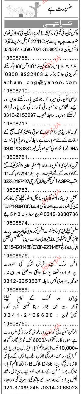 Marketing Officers, Security Guards Job Opportunity