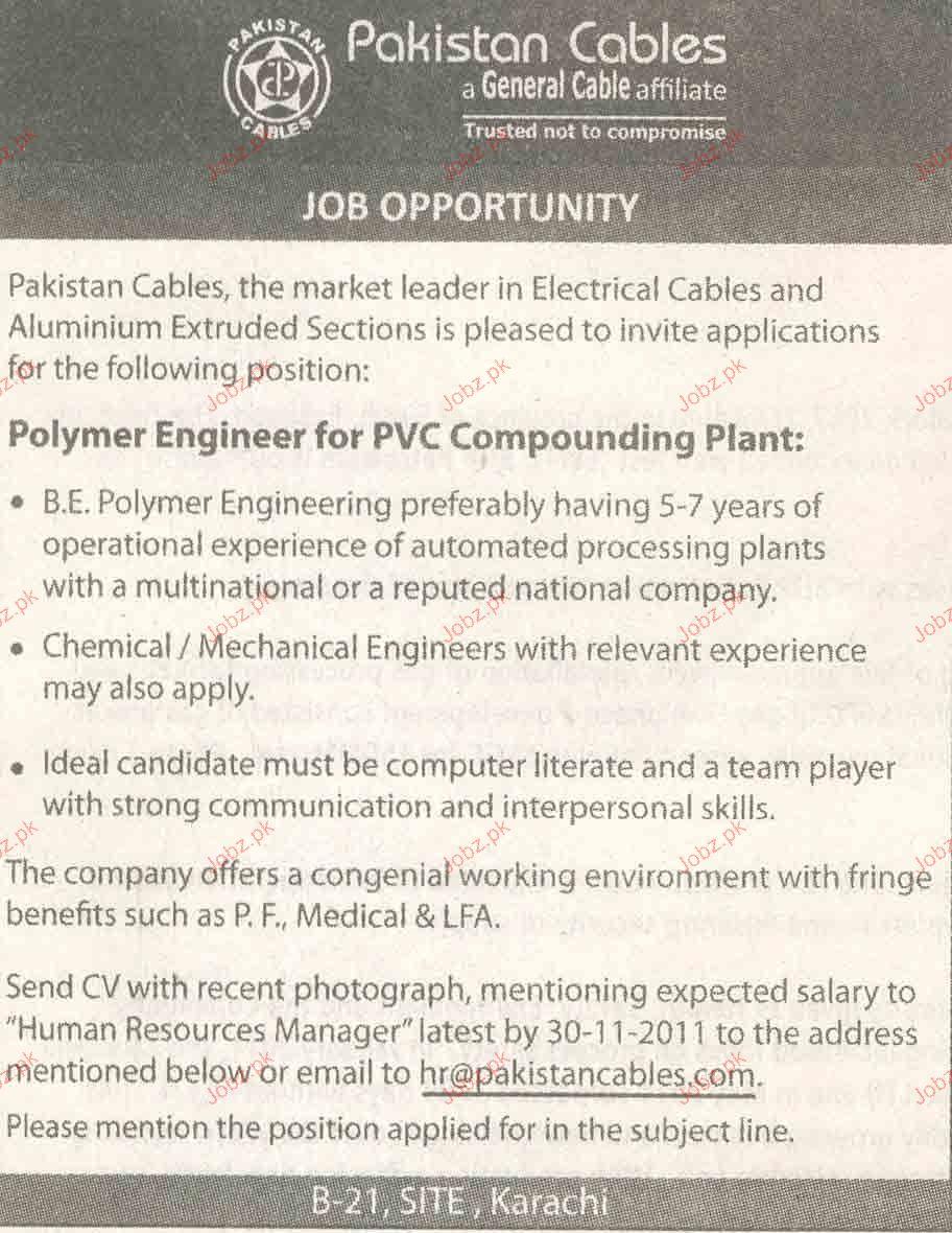 polymer engineer job opportunity 2017 jobs pakistan jobzpk 26803 1 polymer engineer job opportunity jobs 26803html polymer engineer sample resume - Polymer Engineer Sample Resume