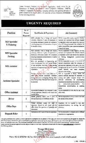 Mis Specialist Architect Specialist Job Opportunity 2018 Jobs Pakistan