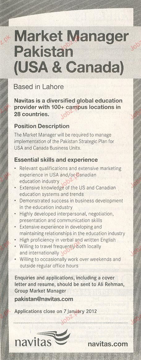 Market Manager Job Opportunity