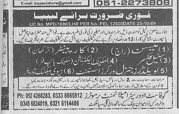 Carpainter and Pipe Fiter Jobs