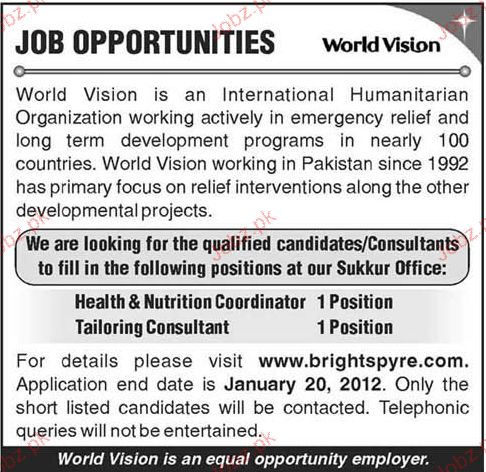 health nutrition coordinator job opportunity 2017 jobs