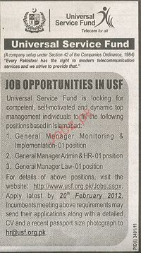Genral Manager Monitoring & Implementation Wanted