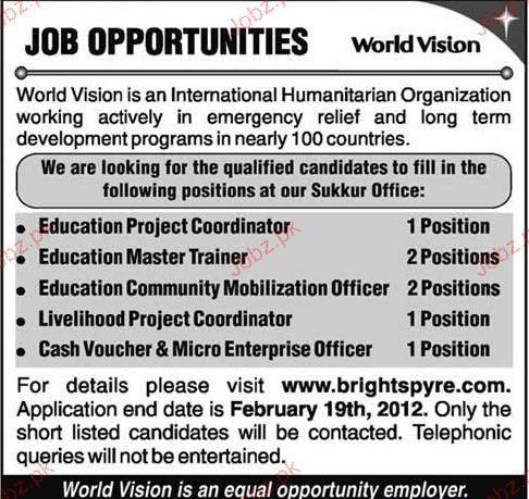 Education Project Controller Job Opportunity 2018 Jobs Pakistan