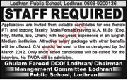 PTI and Faculty Job Opportunity