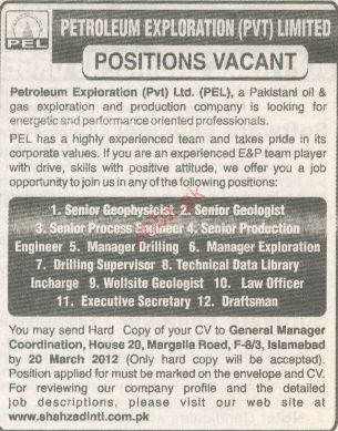 Senior Geophysicist, Senior Geologist Job  Opportunity