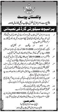 Postmaster Jobs in Punjab