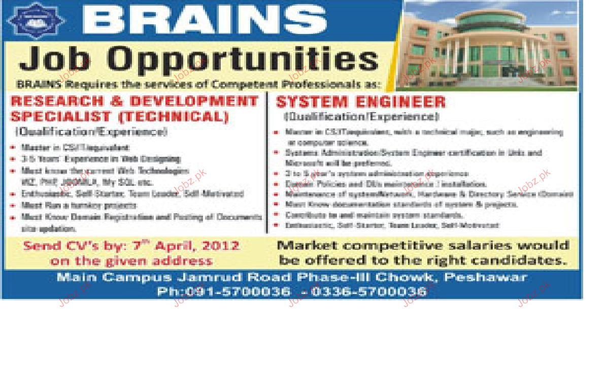 Research & Development Specialist Job Opportunity