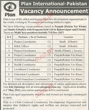 Project Coordinator, M & E Officer Job Opportunity