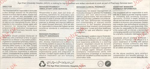 Director, Manager Clinical Pharmacy Job Opportunity