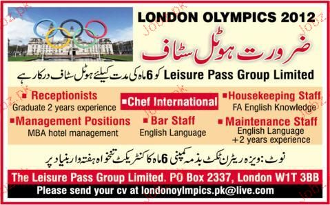 Receptionist, Chef International Job Opportunity