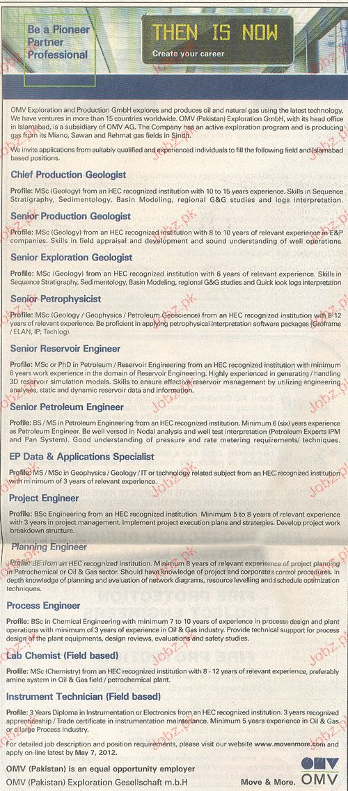 Chief Production Geologist, Senior Petrophysicist Wanted