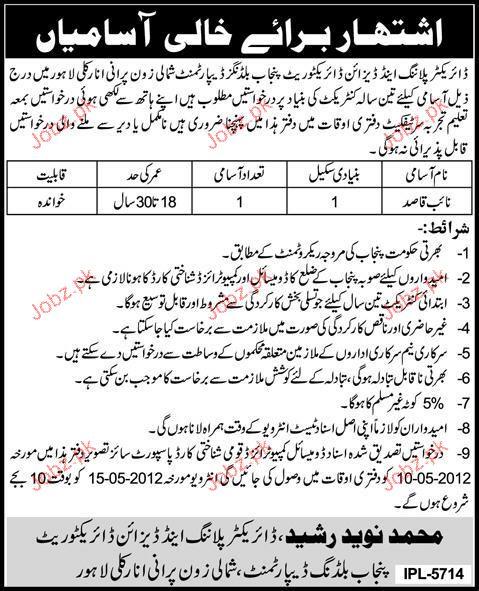 Naib Qasid Job Opportunity