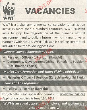 Research Officer and Fisheries Officer Job Opportunity