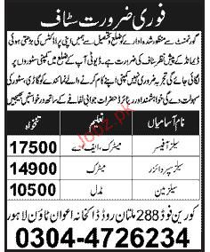 Sales Officer, Sales Supervisor and Salesman Job Opportunity