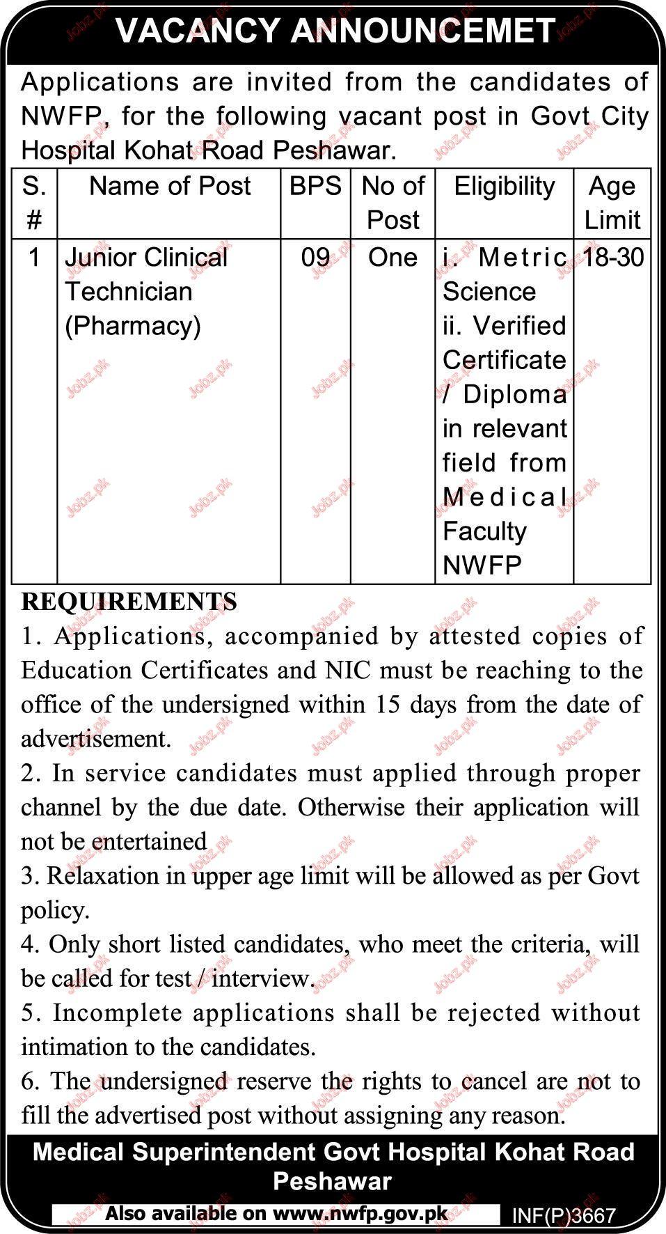 Medical Superintendent Govt Hospital jobs