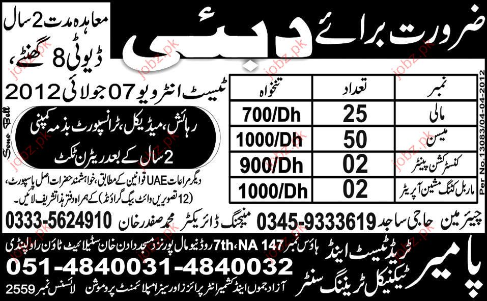 Construction Painter, Maribel Cutting Machine Operator jobs