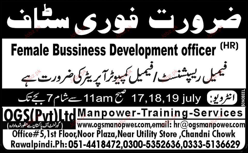 Female Business Development Officer Job Opportunity
