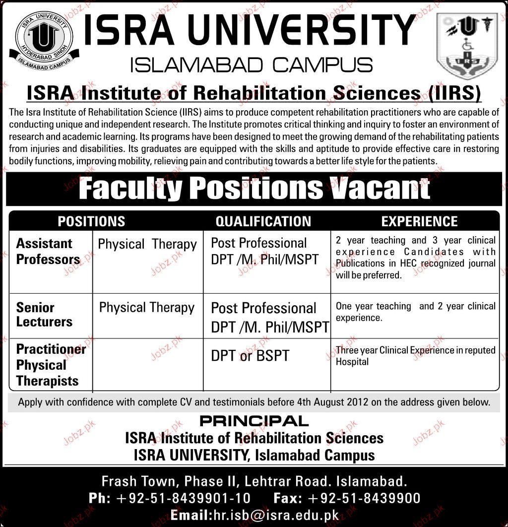 Assistant Professor, Senior Lecturers Job Opportunity