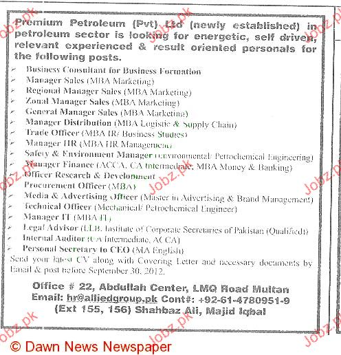 Business Consultants, Manager Sales Job Opportunity