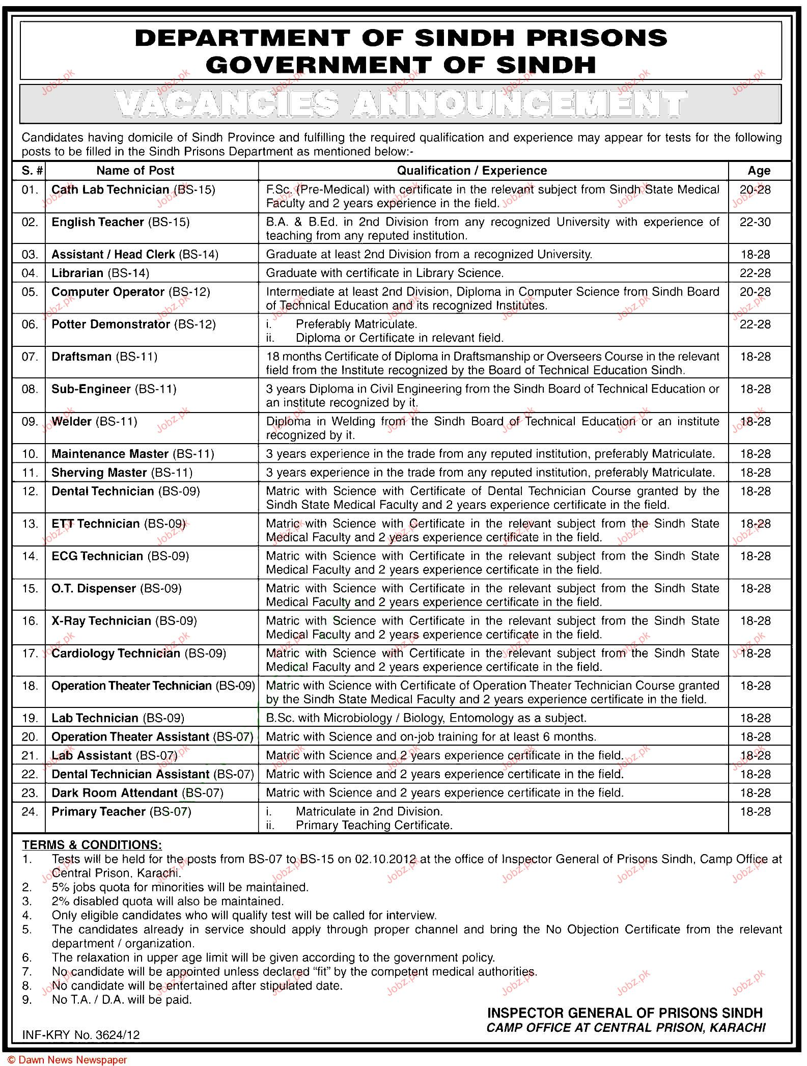 Cath Lab Technicians, English Teachers, Draftsman Wanted 2018 Jobs ...