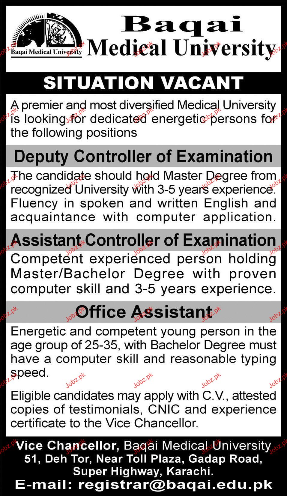 Deputy Controller of Examination Job Opportunity