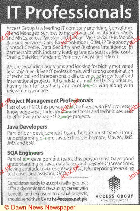 java developer sqa engineer opportunity 2018