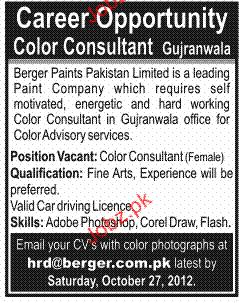 Color Consultant Job Opportunity