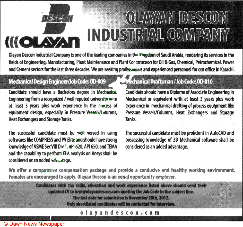 Mechanical Design Engineer And Mechanical Draftsman Wanted