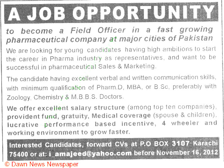 pharmaceutical sales job