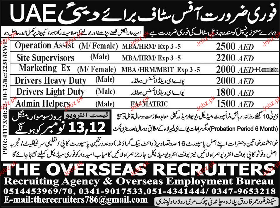 Operation Assistant, Site Supervisors Job Opportunity