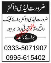 Lady Doctor Job Opportunity