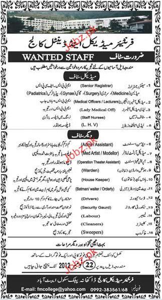 Senior Registrar, Medical Officer, Staff Nurses Required