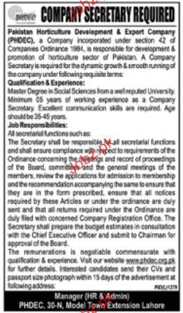 Company Secretary Job Opportunity