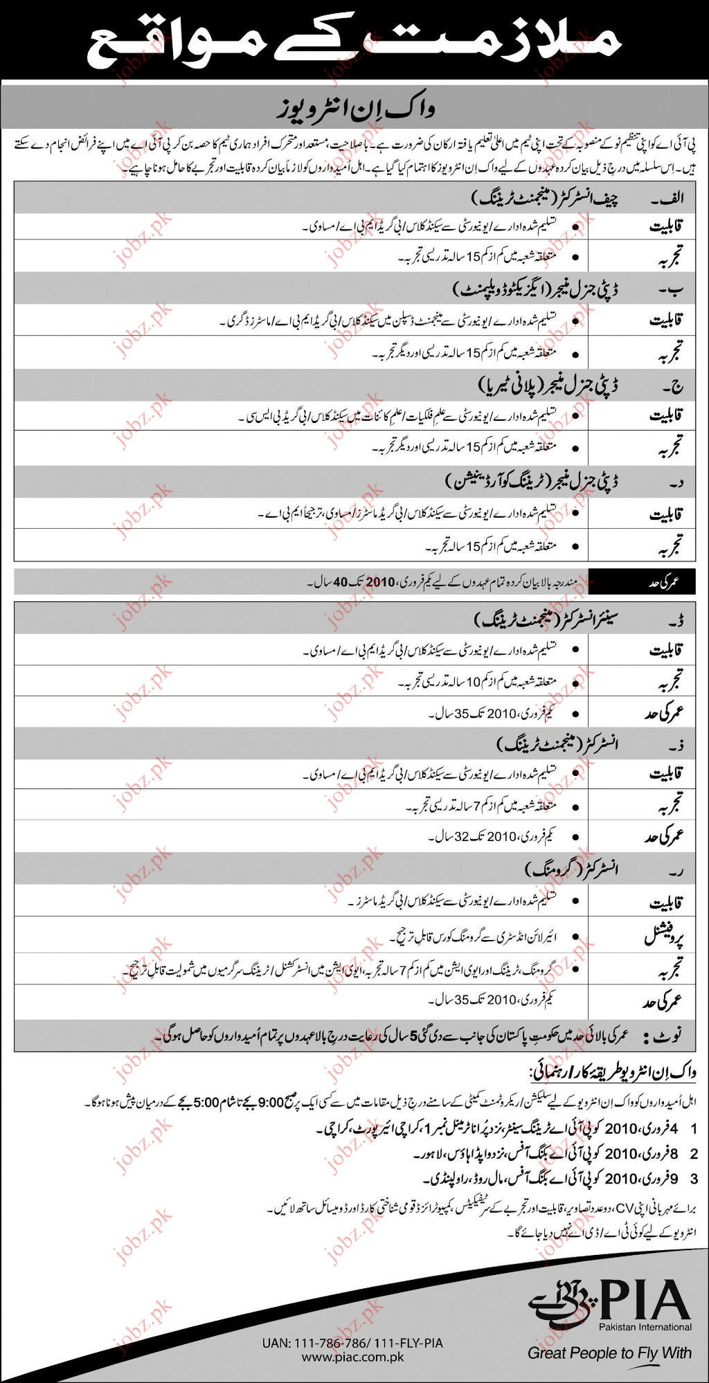 Pia Jobs 2019 Job Advertisement Pakistan