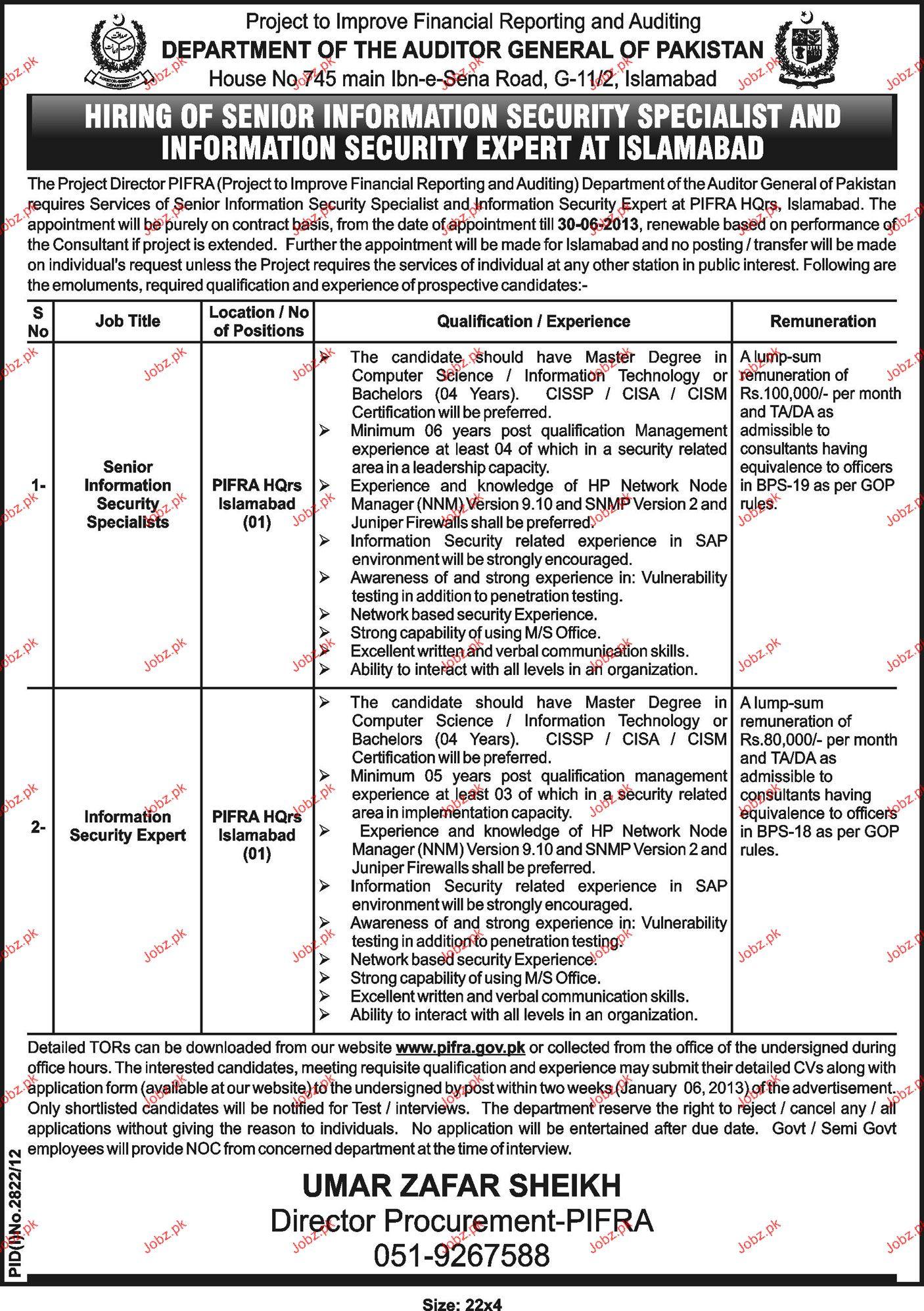 Senior Information Security Specialist Job Opportunity
