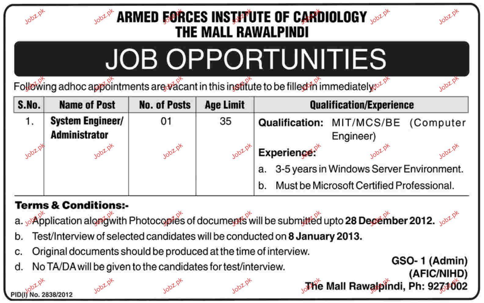 system engineer    administrator job opportunity 2019 job
