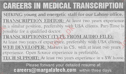 Captivating Medical Transcription Staff Required